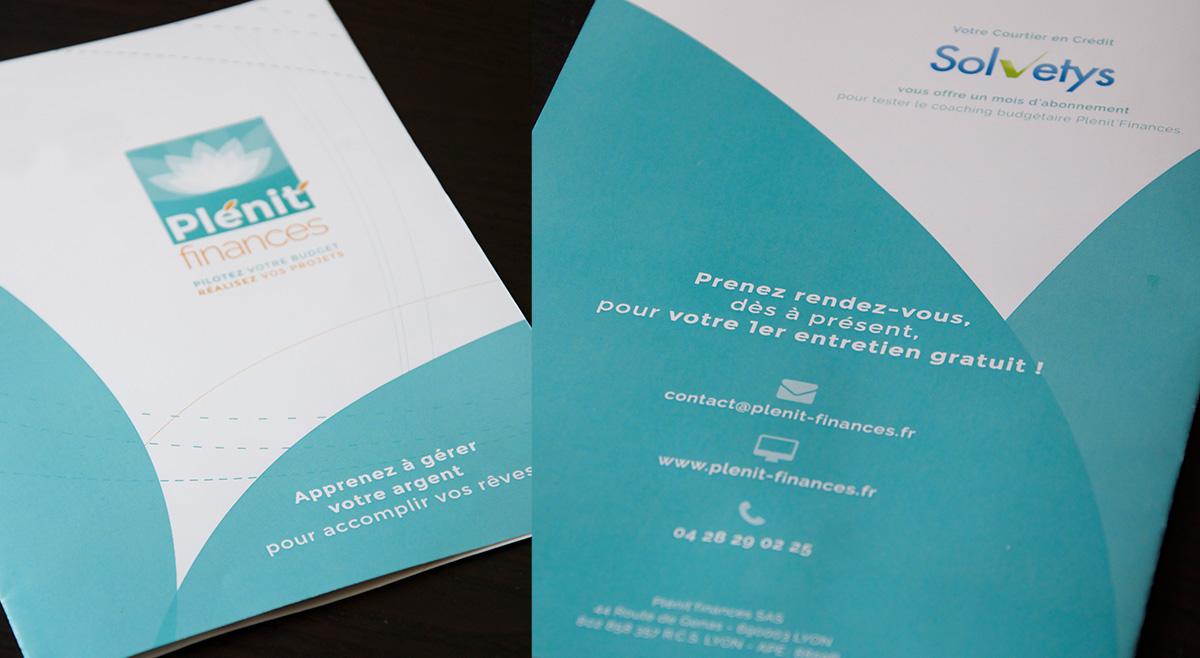 Double photographie pour la première et quatrième de couverture du dépliant Plénit'Finances