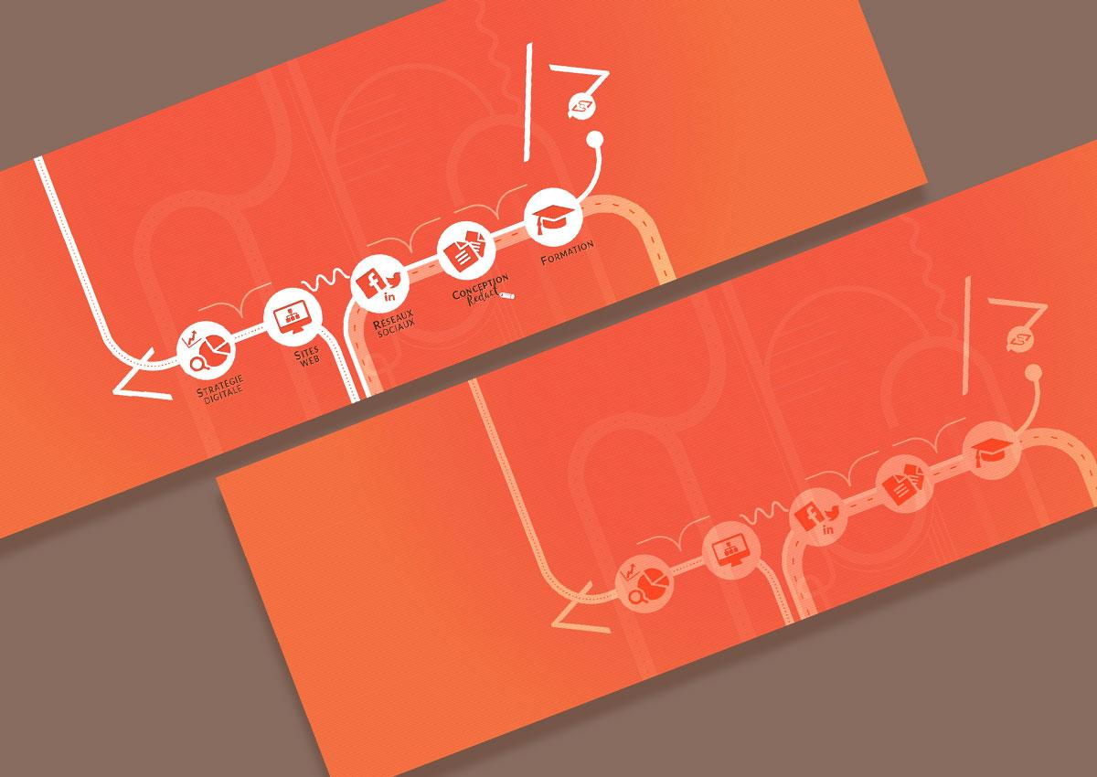 Affichage des 2 bandeaux créés pour le site web (Accueil & Pages int.)