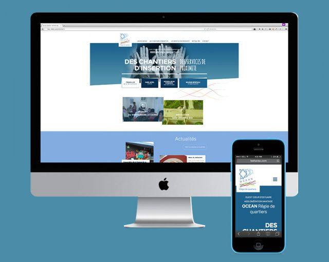 Présentation du site responsive sur ordinateur et smartphone