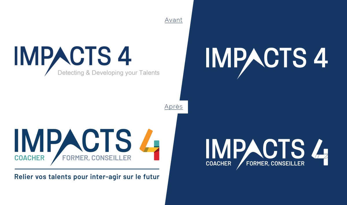 Impacts4 : Logotype Avant Après