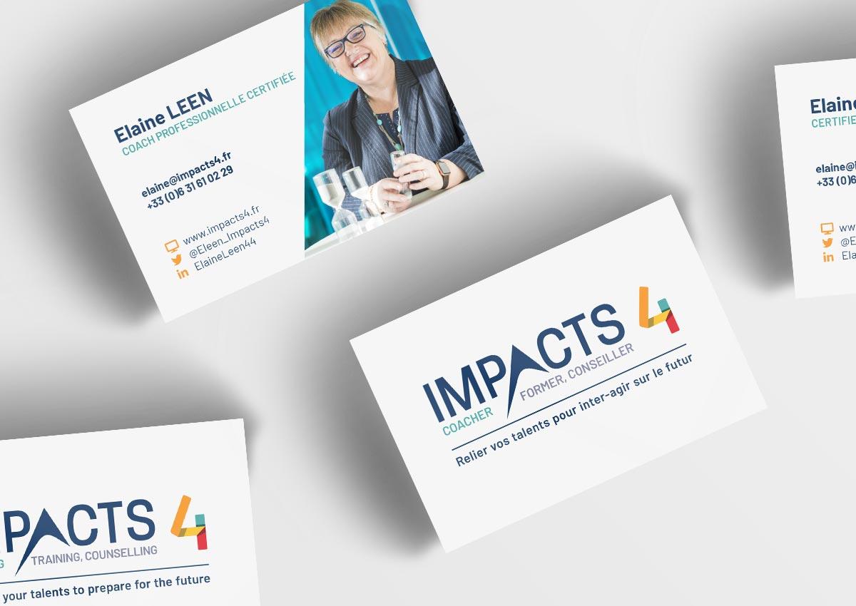 Cartes de viiste Impacts4 en français et anglais