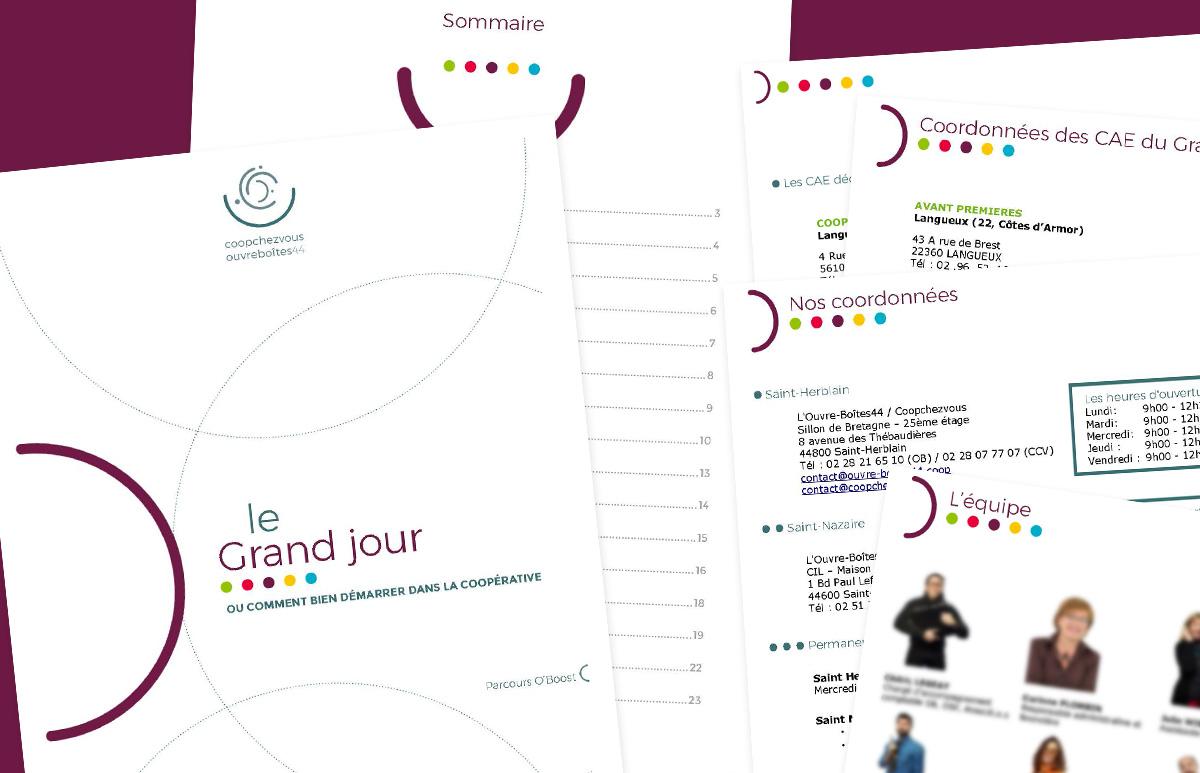 Exemple de Brochure A4 pour la communication interne de l'Ouvre-Boîtes 44
