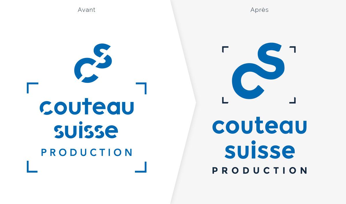 Comparaison du logo avant et après refonte graphique